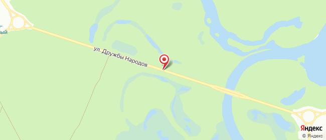 Карта расположения пункта доставки Билайн в городе Когалым