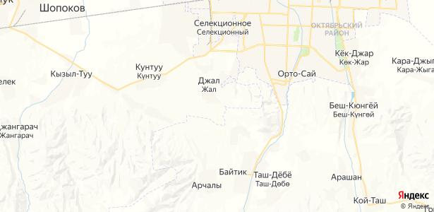 Джал на карте
