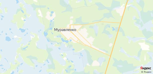 Муравленко на карте