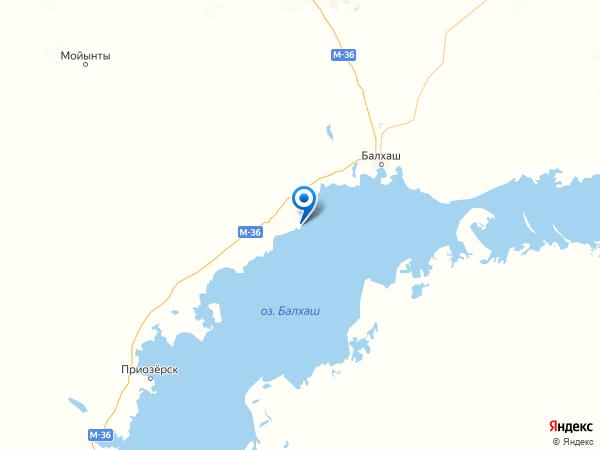 посёлок Балхаш-9 на карте