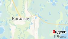 Отели города Когалым на карте