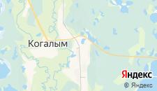 Гостиницы города Когалым на карте