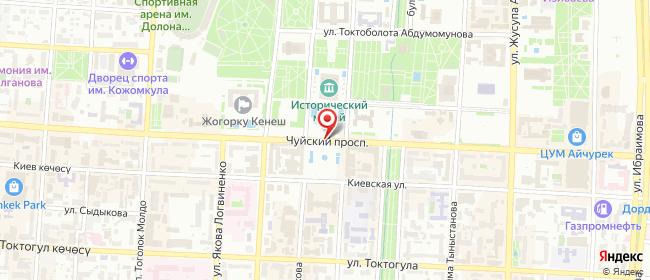 Карта расположения пункта доставки Кимчи 3 в городе Бишкек
