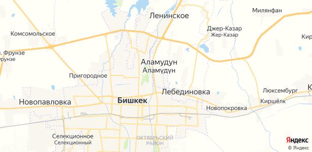 Аламедин на карте