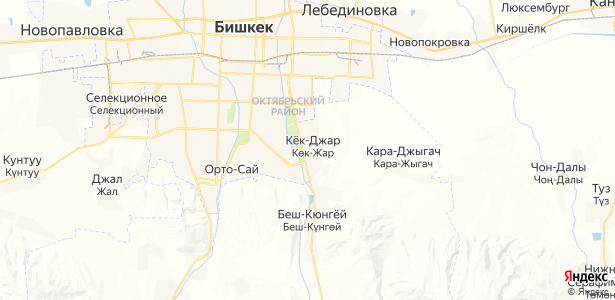 Кок-Джар на карте