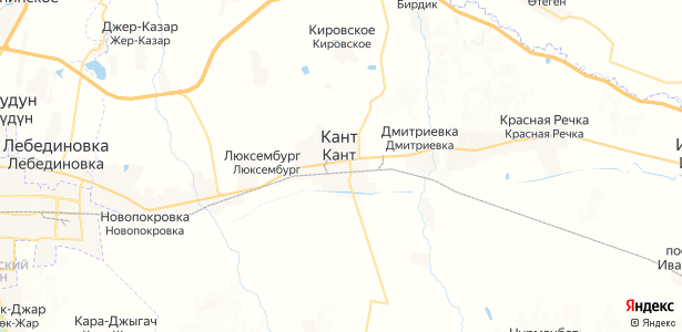 Кант на карте