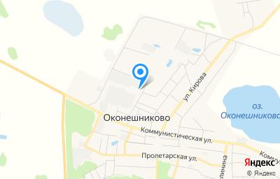 Местоположение на карте пункта техосмотра по адресу Омская обл, рп Оконешниково, ул Пионерская, д 46