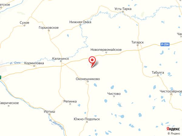 деревня Октябрьское на карте