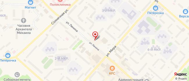 Карта расположения пункта доставки Билайн в городе Лангепас