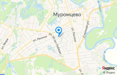 Местоположение на карте пункта техосмотра по адресу Омская обл, рп Муромцево, ул 30 лет Победы, д 48