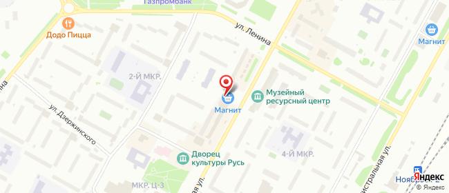 Карта расположения пункта доставки Билайн в городе Ноябрьск