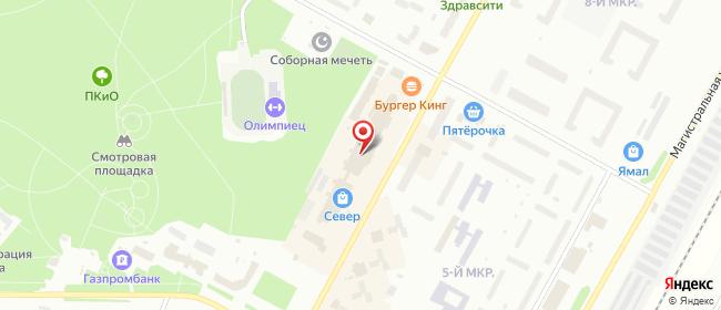 Карта расположения пункта доставки Ноябрьск Советская в городе Ноябрьск