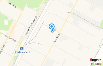 Местоположение на карте пункта техосмотра по адресу Ямало-Ненецкий АО, г Ноябрьск, тер промузел Пелей, панель III