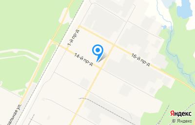 Местоположение на карте пункта техосмотра по адресу Ямало-Ненецкий АО, г Ноябрьск, тер промузел Пелей, панель IX, д 7