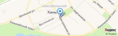Западно-Сибирский банк Сбербанка России на карте Ханымея