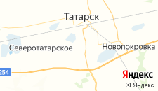 Отели города Татарск на карте