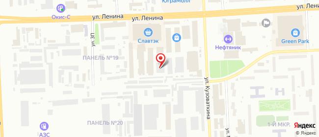 Карта расположения пункта доставки DPD Pickup в городе Нижневартовск