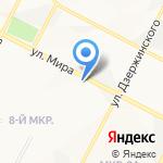 Глобус на карте Нижневартовска