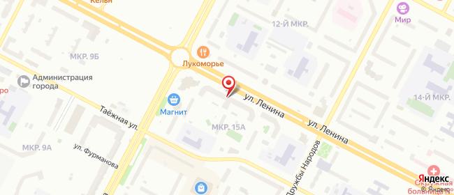 Карта расположения пункта доставки Халва в городе Нижневартовск