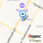Клевер на карте Нижневартовска