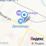 ДЕКОРАДО на карте Нижневартовска