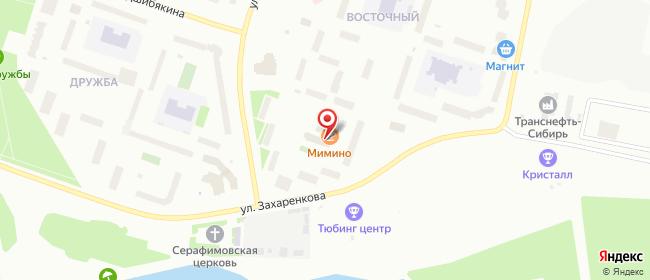 Карта расположения пункта доставки Новый Уренгой Восточный в городе Новый Уренгой