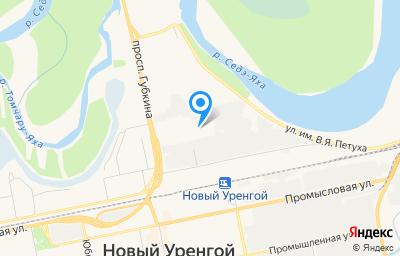 Местоположение на карте пункта техосмотра по адресу Ямало-Ненецкий АО, г Новый Уренгой, пр-кт Губкина, д 10