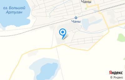 Местоположение на карте пункта техосмотра по адресу Новосибирская обл, рп Чаны, ул Лермонтова, д 1А