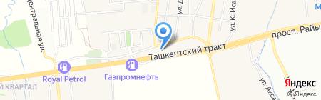 АЗС ГАЗПРОМНЕФТЬ-Казахстан на карте Алматы