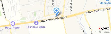 АЗС V-OiL на карте Алматы