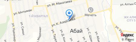 Абай на карте Иргелей