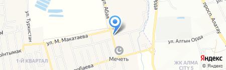 Ак-шат на карте Иргелей