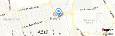 Парикмахерская на ул. Абая (н.п. Абай) на карте Абая