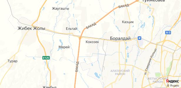 Кокозек на карте