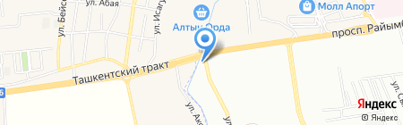 Алдияр на карте Абая