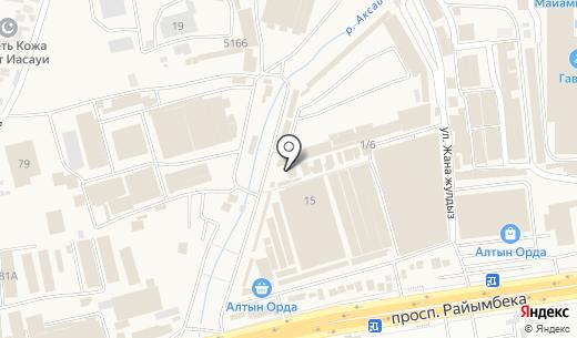 Бiрiншi Ломбард сеть ломбардов. Схема проезда в Алматы
