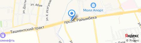 Сивельга на карте Алматы