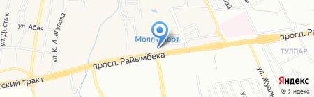 Шиномонтажная мастерская на Ташкентском тракте на карте Алматы