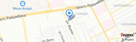 Зауре на карте Алматы