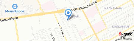Нескам на карте Алматы