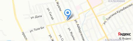 Диана продовольственный магазин на карте Алматы