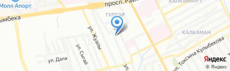 Акниет продуктовый магазин на карте Алматы