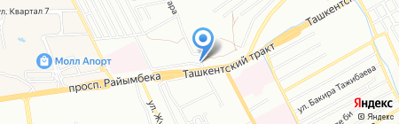 7 юрта на карте Алматы