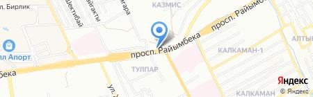 Зангар на карте Алматы