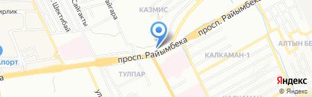 Автомойка на Ташкентском тракте на карте Алматы