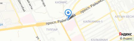 Продовольственный магазин на ул. Ауэзова на карте Алматы