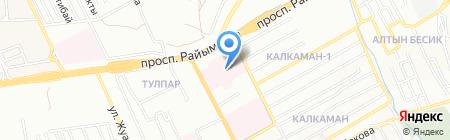 Городская клиническая больница №7 на карте Алматы