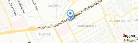 Алтын Булак на карте Алматы