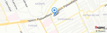 Бекзат на карте Алматы