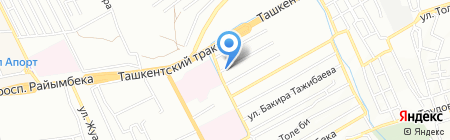 Айдана на карте Алматы